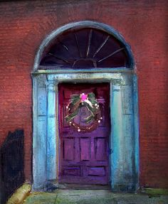 Purple door/blue frame ~ Henrietta Street, Dublin, Ireland