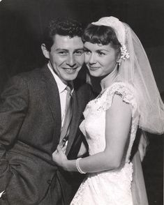 Debbie Reynolds and Eddie Fisher, 1956 |Actors Reynolds and Fisher were married for just four years before he stepped out on her with Elizabeth Taylor and became Taylor's fourth husband.