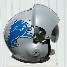 Detroit Lions Motorcycle Helmet