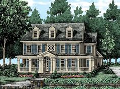 Eplans Farmhouse House Plan - A Wealth of Windows - 2973 Square Feet and 4 Bedrooms(s) from Eplans - House Plan Code HWEPL11624