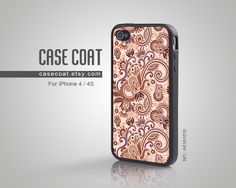 iPhone 4 Case, iPhone 4s Case - Floral, Pattern, Classic, Floral iPhone Case, Case for iPhone - A01A1010. $10,99, via Etsy.