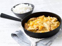 Persikka ja tuore inkivääri antavat suomalaisten suosimalle broilerille idän eksotiikkaa. Maustettu ruokakerma yhdistää maut herkulliseksi kokonaisuudeksi. Viimeistele ruoka tarjoamalla se jasmiini- tai basmatiriisin kanssa.