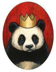Royal Panda Bear by Kelly Vivanco #panda #kellyvivanco