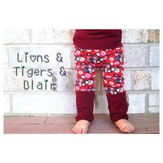 Handmade Lillestoff Birdies Fart Sacks - Size 3M to 3T - Toddler Legging/Baby Legging/Grow With Me Pants/Cloth Diaper Pants/Toddler Pants on Etsy, $22.00
