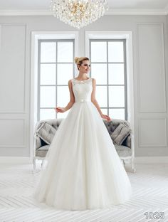 View Dress - Sans Pareil Bridal Collection: 1025 - Ethereal sleeveless A-line…
