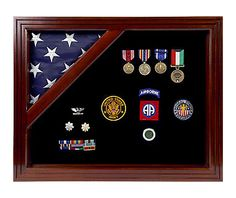 Military display case - military shadow box.