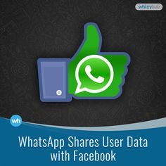 WHATSAPP SHARES USER DATA WITH FACEBOOK #ACCOUNT #APP #CHAT #ROBOTS #DATA #FACEBOOK #INDIVIDUAL #INFORMATION #MONEY #SHARE #TECHNOLOGY #USERS #WHATSAPP Read more: http://whizzyhub.com/whatsapp-share-user-data-with-facebook/