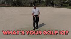 "What's Your Golf IQ? Watch today's Rx Golf Tip of the Day - ""Modern Bunker Play"" - then see if you can ACE the Rx Golf Quiz which follows the lesson. http://www.rxgolfnetwork.com/#/tip-of-the-day/219"