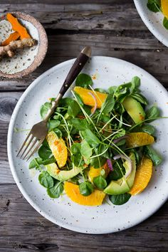 Cleansing Watercress and Citrus Salad with Turmeric Dressing