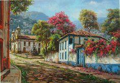 Landscape Concept, House Landscape, Urban Landscape, Brain Drawing, South American Art, Beautiful Nature Pictures, Z Arts, Still Life Art, City Art