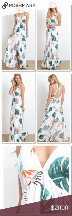 Preview Leaf Print Maxi Dress Leaf Print Maxi Dress Dresses Maxi