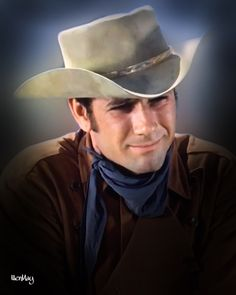 Laramie Tv Series, Robert Fuller Actor, Man On Fire, Hollywood Men, Tv Westerns, The Old Days, Favorite Tv Shows, Cowboy Hats, Handsome