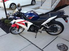 2012 Honda 250R Sportbike , white/red/blue, 3,279 miles for sale in ELKRIDGE, MD