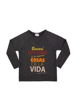 """Dolores Promesas Shop Online - SUDADERA """"BUSCARE LA FELICIDAD..."""" - SUDADERAS"""