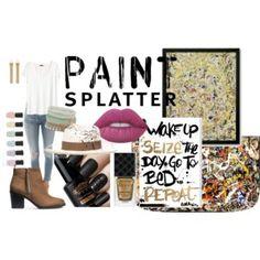 paint splatter!! Paint Splatter, Polyvore, Painting, Image, Painting Art, Paintings, Painted Canvas, Drawings