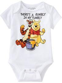 © Disney Winnie The Pooh & Tigger Bodysuits for Baby