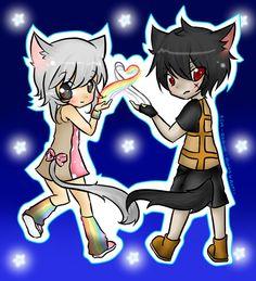 Nyan Cat and Tac Nayn by RoxasS2Axel.deviantart.com on @deviantART