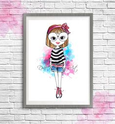 Fashion girl Fashion illustration fashion art от DollMemoriesArt