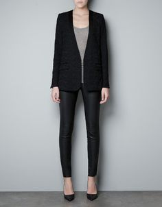 This lace on this is amazing.  Zara I love you again.  TUXEDO JACKET WITH LACE DETAIL