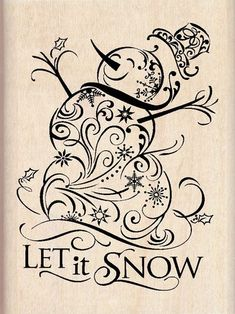 Snowman filigree stamp.