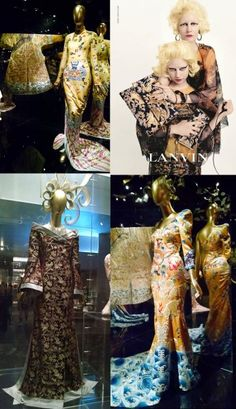 "If you haven't visited the MET to see the Costume Institute's ""China Through the Looking Glass"" exhibit you still have time and you should definitely go. The exhibition explores Chinese Costume Institute, Through The Looking Glass, Shoulder Dress, China, Costumes, Dresses, Design, Fashion, Gowns"