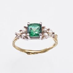 Pearl Ring for Engagement or not Antique Style by bmjnyc