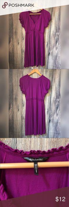Daisy Fuentes purple dress Worn a few times, no flaws. Super comfy casual dress. Daisy Fuentes Dresses Midi