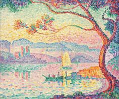 Waterscape painting, Paul Signac (1863-1935)