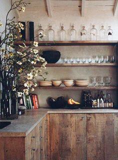 I Wish...minimalist rustic kitchen / sfgirlbybay