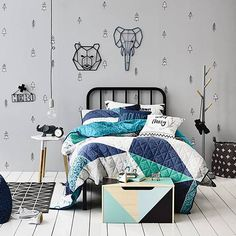Colourful & fun kids manchester available at Adairs. We have a wide range of bedding accessories for both boys & girls all made with your children in mind.
