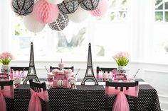 Birthday Party Ideas: Paris Damask