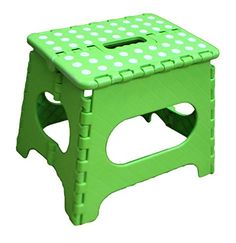 Jeronic 11 Inches Super Strong Folding Step Stool for Adults and Kids, Green Kitchen Stepping Stools, Garden Step Stool, holds up to 300 LBS Smart Furniture, Kids Furniture, Portable Stool, Garden Steps, Outdoor Classroom, Folding Stool, Kitchen Stools, Green Kitchen, Kids House