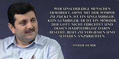 Gedichte und Liedtexte von Önder Demir: Wer unschuldige