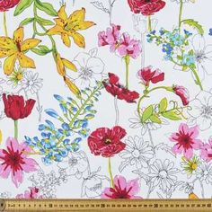 Cotton poplin at Spotlight is fabric of a lovely quality and is perfect for dressmaking and craft projects. Explore our range of fabrics at Spotlight. Dressmaking Fabric, Textures Patterns, Craft Projects, Study Help, Quilts, Spotlight, Floral, Flowers, Cotton