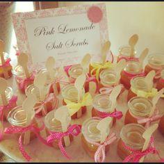 Pink Lemonade Salt scrubs! Bridal shower favors!