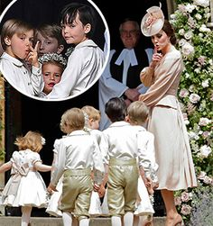 Their royal cuteness! Prince George and Princess Charlotte steal the limelight from Auntie Pippa as they put on an adorable display at the wedding of the year.