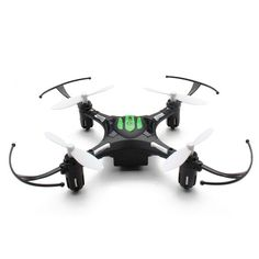 Eachine H8 Mini nano quadcopter, this awesome nano drone is bags of fun. 360 flips, Led lights and return key function are just some of the features. Available in Black or White.