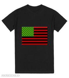 Black American Flag | Black American Flag #Skreened