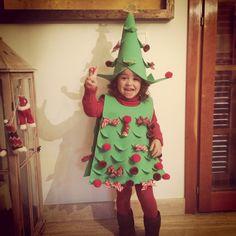 Disfraz árbol de Navidad goma Eva