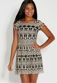 patterned lace dress (original price, $44) available at #Maurices