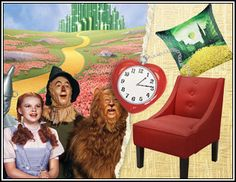 Wizard of Oz furniture collection. Oh yes.