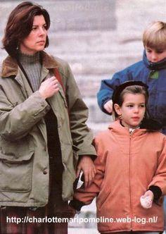 Princess Caroline with children Charlotte and Andrea Casiraghi 1994.
