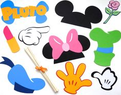 Mickey Mouse Clubhouse Printable Cutouts | Donald Duck Mickey Mouse Clubhouse Minnie mouse, donald duck