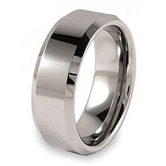 Plain and simple (Tungsten Polished w/ beveled edge)