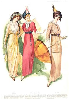 1913 Delineator Edwardian Fashions by kelleystreetvintage on Etsy, $11.50