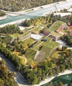 MVRDV plans landscape of buildings topped with green roofs for zhangjiang future park