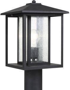 0-024080>Hunnington 1-Light Outdoor Post Lantern Black