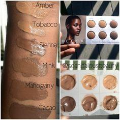 Becca Foundation Color Chart Makeup Looks Pinterest