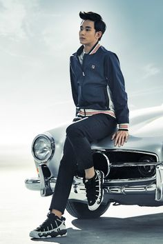 Kim Soo Hyun is flawless in his FILA Heritage CF