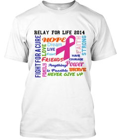 Relay For Life 2014. Designed by Victoria Knight to help support Team Hair of Greenville, MI.
